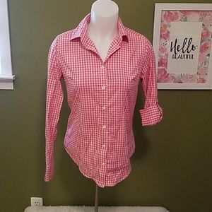 Peter Millar pink Small button up top